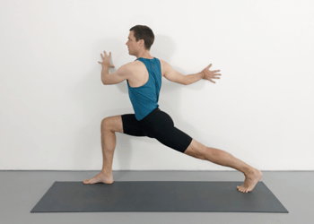 wall support standing poses to combat low energy  weekly