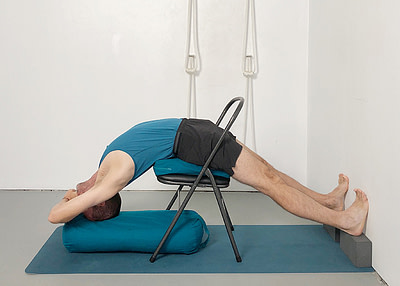 backbends using a chair