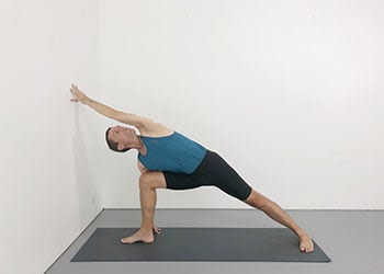 standing poses using a wall  weekly advanced class 108