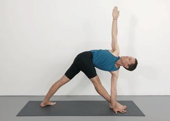 parivrtta trikonasana  revolved triangle pose  yoga