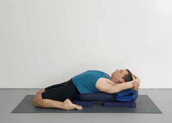 supta virasana  yoga selection