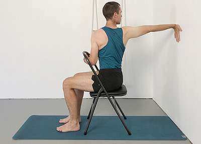 seated shoulder poses
