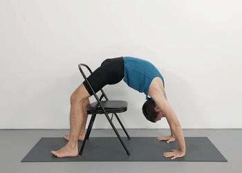 urdhva dhanurasana with a chair  weekly intermediate