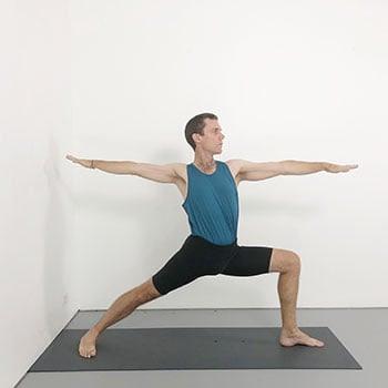 virabhadrasana 2 beginner iyengar yoga pose