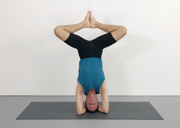standing poses and headstand leg variations  weekly